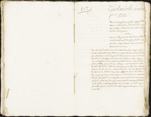 Roosendaal: Registers van resoluties, 1671-1673, 1675, 1677-1795 1707
