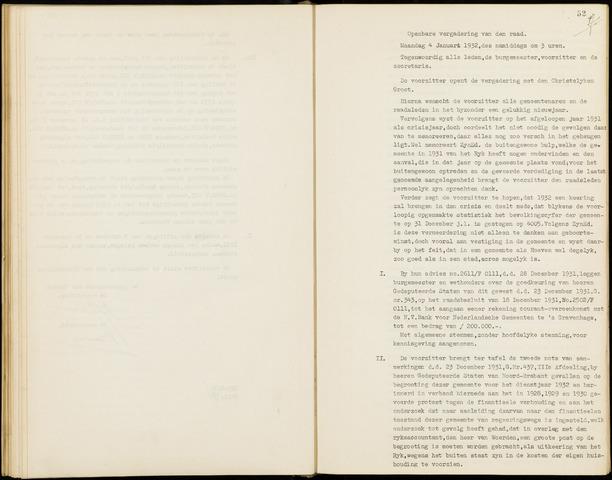 Hoeven: Notulen gemeenteraad, 1928-1996 1932-01-01