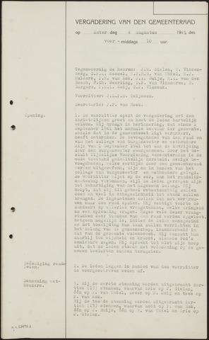 Oudenbosch: Notulen gemeenteraad, 1939-1994 1945-01-01