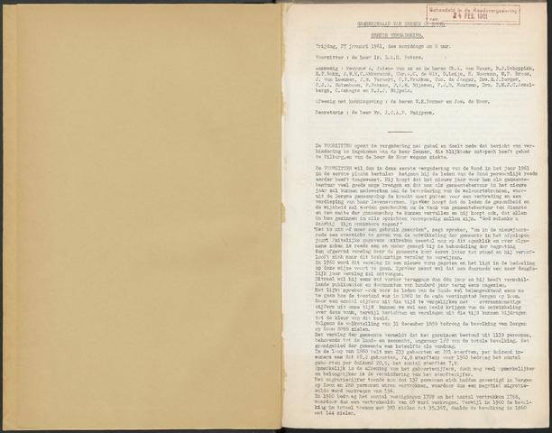 Bergen op Zoom: Notulen gemeenteraad, 1926-1996 1961-01-01