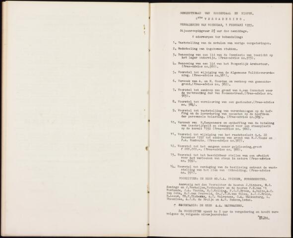 Roosendaal: Notulen gemeenteraad, 1916-1999 1933