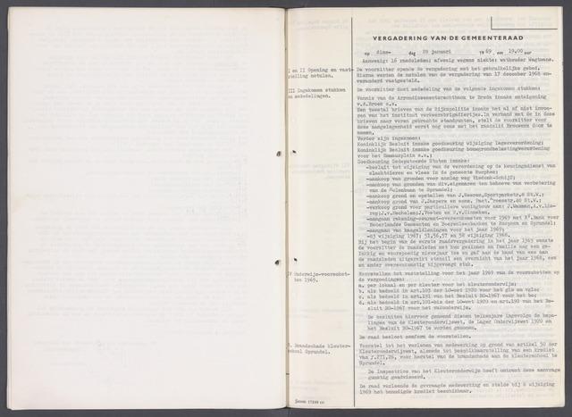 Rucphen: Notulen gemeenteraad, dec. 1949-1998 1969-01-01