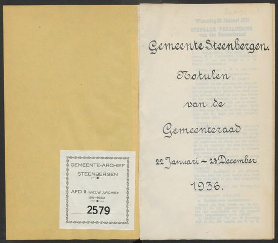 Steenbergen: Notulen gemeenteraad, 1920-1996 1936-01-01