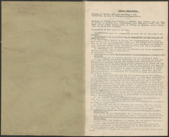 Bergen op Zoom: Notulen gemeenteraad, 1926-1996 1928-01-01