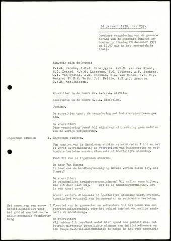 Zundert: Notulen gemeenteraad, 1934-1988 1978-01-01