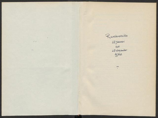 Steenbergen: Notulen gemeenteraad, 1920-1996 1960-01-01