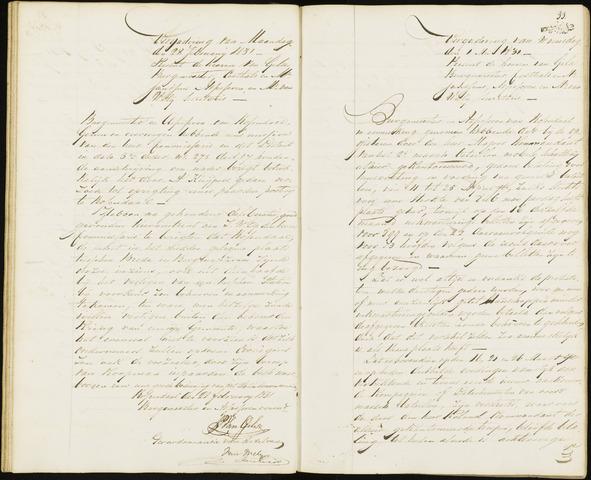 Roosendaal: Notulen van burgemeester en assessoren, 1827-1851 1831
