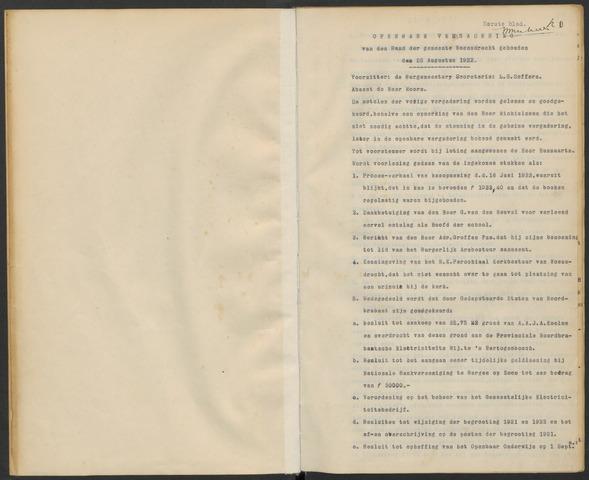 Woensdrecht: Notulen gemeenteraad, 1922-1996 1922-01-01