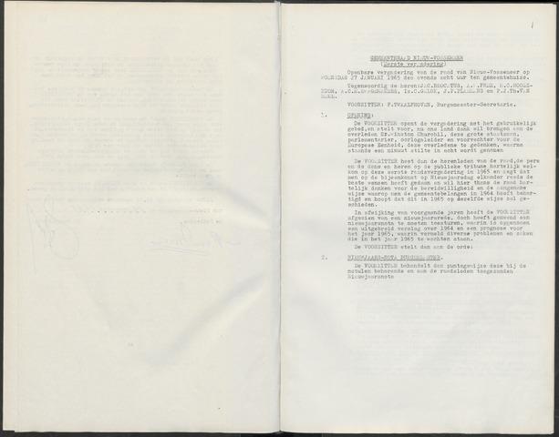 Nieuw-Vossemeer: Notulen gemeenteraad, 1957-1996 1965-01-01