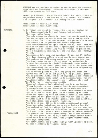 Dinteloord: Notulen gemeenteraad, 1946-1996 1977
