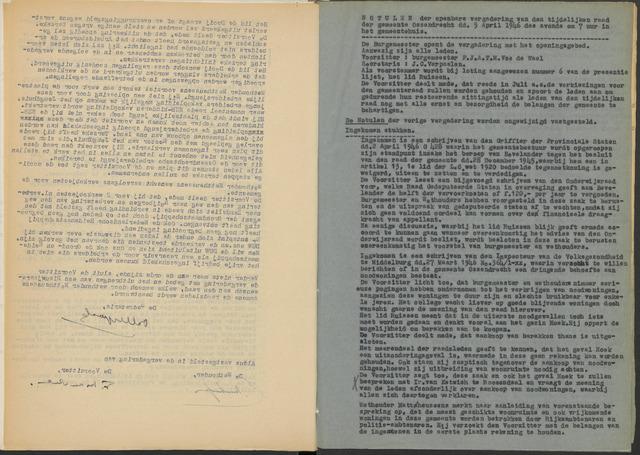 Ossendrecht: Notulen gemeenteraad, 1920-1996 1946