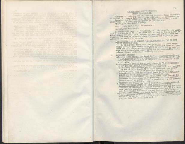 Nieuw-Vossemeer: Notulen gemeenteraad, 1957-1996 1959-01-01