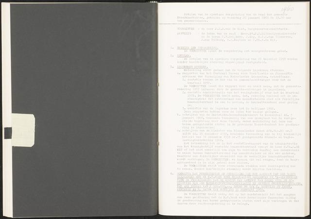 Standdaarbuiten: Notulen gemeenteraad, 1937-1996 1960-01-01