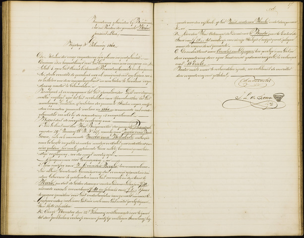 Wouw: Notulen gemeenteraad, 1813-1996 1860