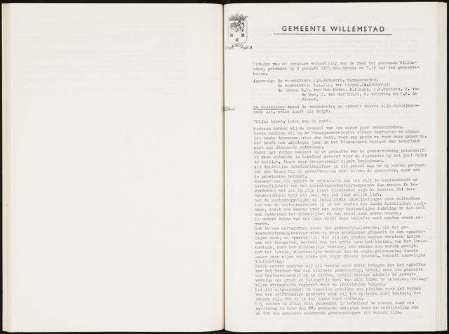 Willemstad: Notulen gemeenteraad, 1927-1995 1973-01-01
