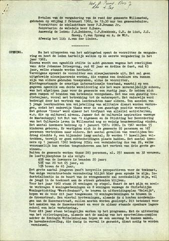 Willemstad: Notulen gemeenteraad, 1927-1995 1962-01-01