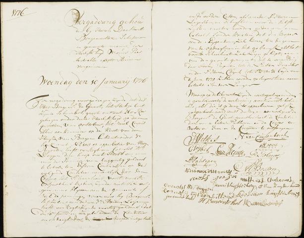 Wouw: Registers van resoluties, 1593-1811 1776