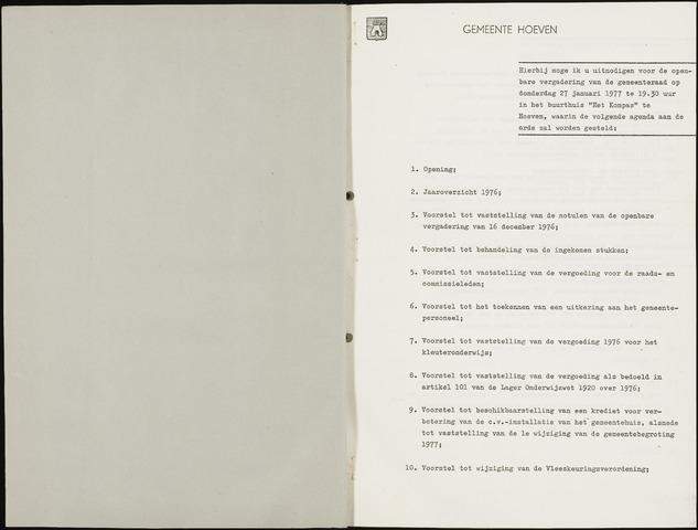 Hoeven: Notulen gemeenteraad, 1928-1996 1977-01-01