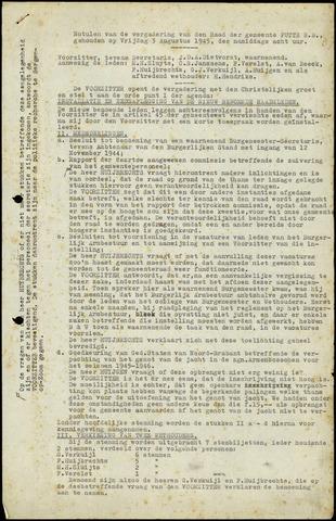 Putte: Notulen gemeenteraad, 1928-1996 1945-01-01