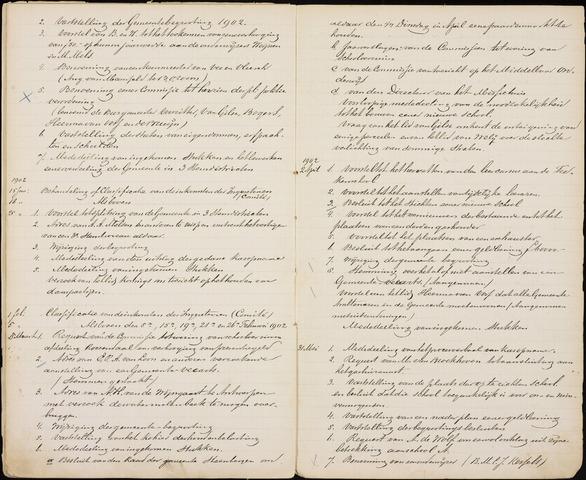 Roosendaal: Inhoudsopgaven notulen, 1849-1903 1902