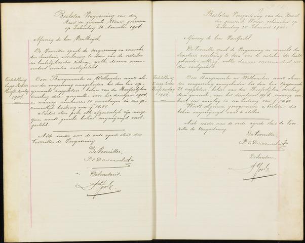 Wouw: Notulen gemeenteraad (besloten), 1902-1919 1905