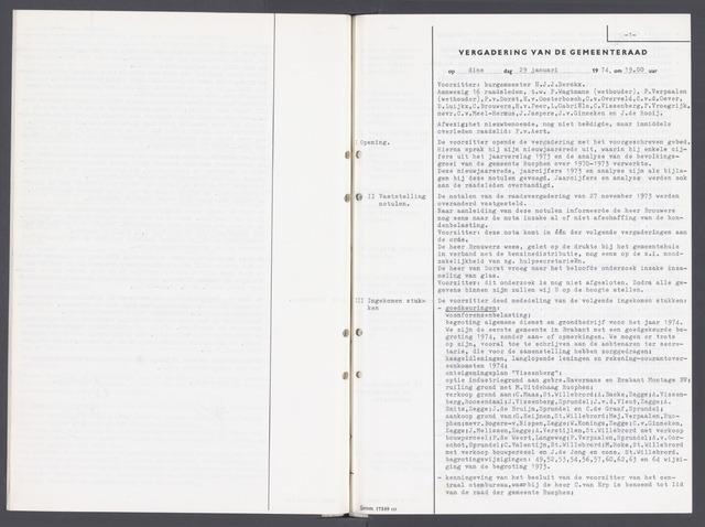 Rucphen: Notulen gemeenteraad, dec. 1949-1998 1974-01-01