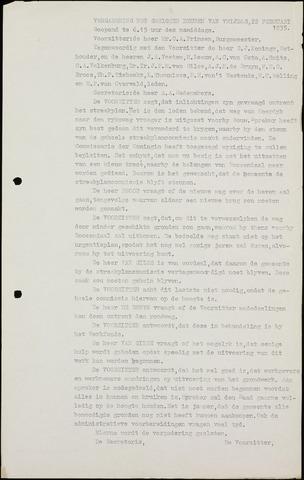 Roosendaal: Notulen gemeenteraad (besloten), 1919-1935 1935