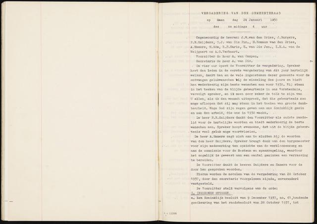 Fijnaart en Heijningen: notulen gemeenteraad, 1934-1995 1938