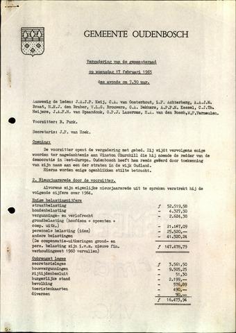 Oudenbosch: Notulen gemeenteraad, 1939-1994 1965-01-01