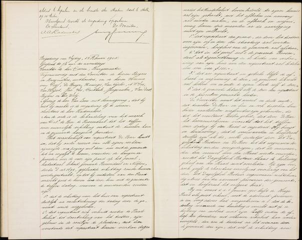 Roosendaal: Notulen gemeenteraad (besloten), 1851-1916 1905