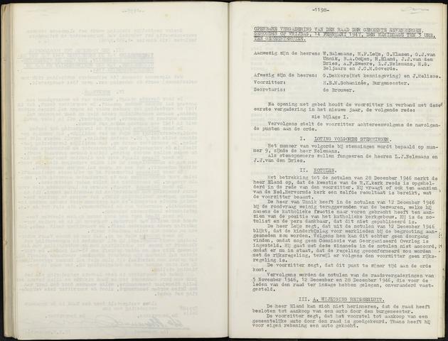 Zevenbergen: Notulen gemeenteraad, 1930-1996 1947-01-01