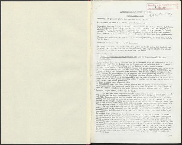 Bergen op Zoom: Notulen gemeenteraad, 1926-1996 1967-01-01