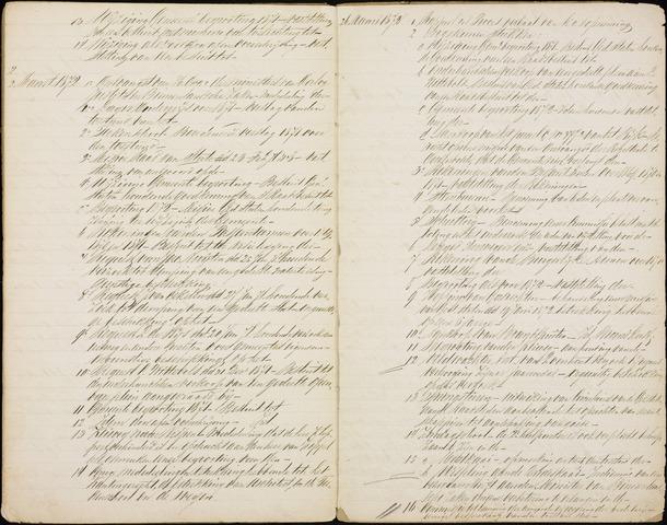 Roosendaal: Inhoudsopgaven notulen, 1849-1903 1872