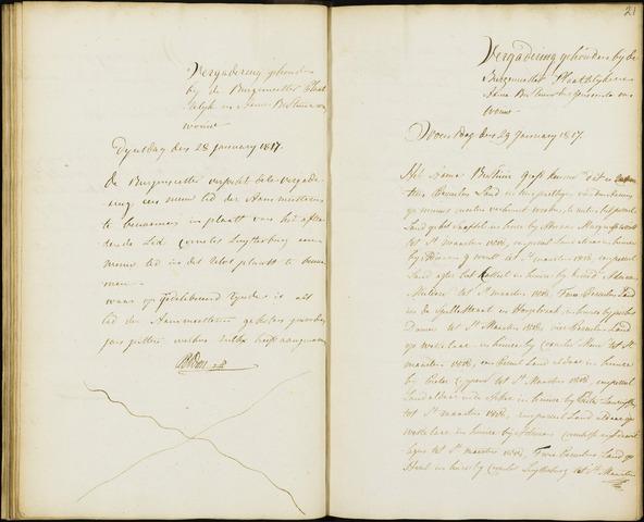 Wouw: Notulen gemeenteraad, 1813-1996 1817
