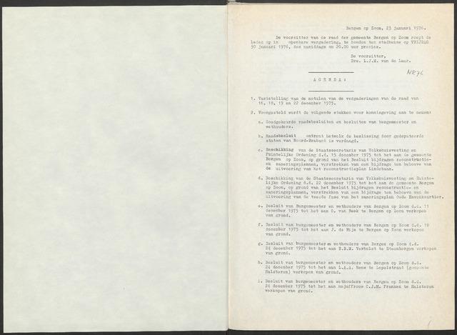 Bergen op Zoom: Notulen gemeenteraad, 1926-1996 1976-01-01