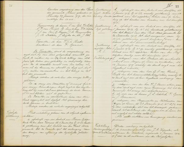 Wouw: Notulen gemeenteraad, 1813-1996 1919