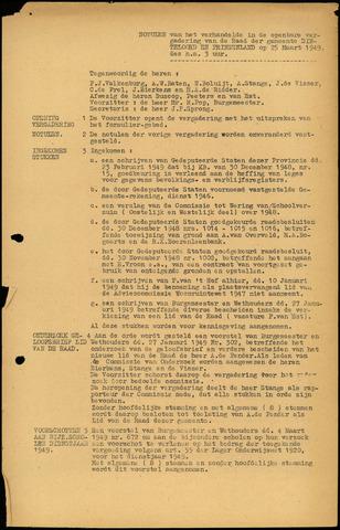 Dinteloord: Notulen gemeenteraad, 1946-1996 1949