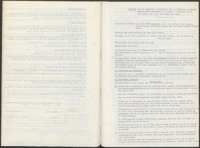 Ossendrecht: Notulen gemeenteraad, 1920-1996 1963