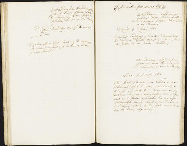 Roosendaal: Registers van resoluties, 1671-1673, 1675, 1677-1795 1764