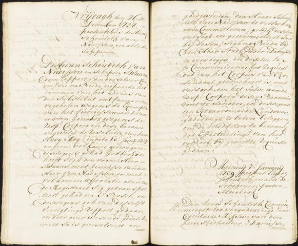 Roosendaal: Registers van resoluties, 1671-1673, 1675, 1677-1795 1739