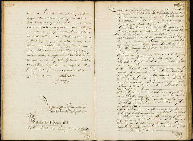 Wouw: Notulen gemeenteraad, 1813-1996 1834