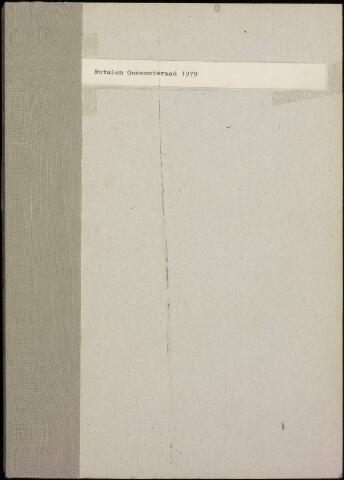 Roosendaal: Notulen gemeenteraad, 1916-1999 1979