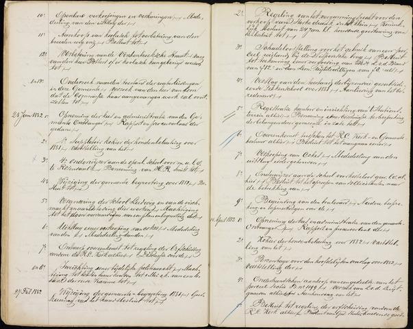 Roosendaal: Inhoudsopgaven notulen, 1849-1903 1882