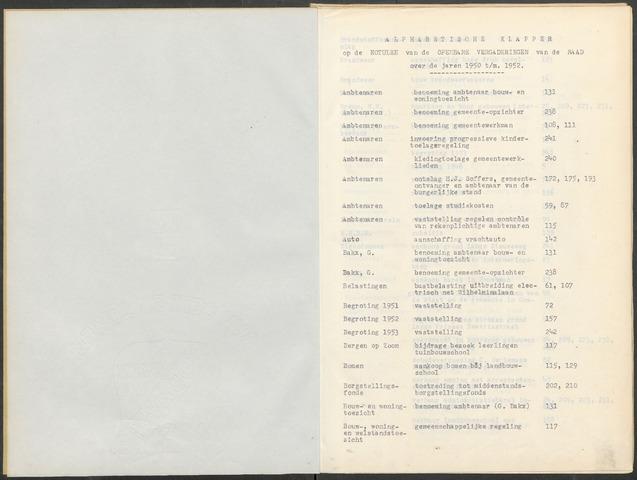 Woensdrecht: Notulen gemeenteraad, 1922-1996 1950-01-01