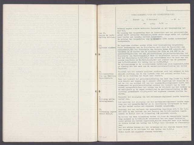 Rucphen: Notulen gemeenteraad, dec. 1949-1998 1956-01-01