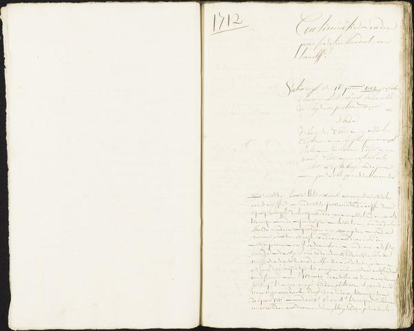Roosendaal: Registers van resoluties, 1671-1673, 1675, 1677-1795 1712
