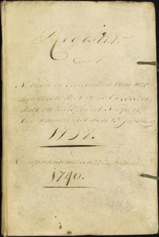 Roosendaal: Registers van resoluties, 1671-1673, 1675, 1677-1795 1738