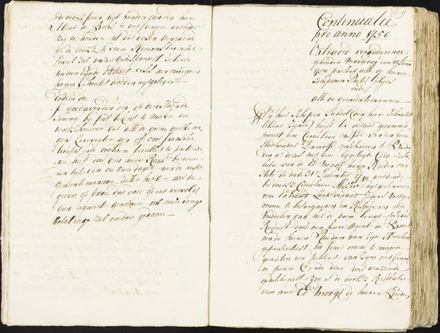 Roosendaal: Registers van resoluties, 1671-1673, 1675, 1677-1795 1750