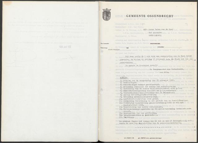 Ossendrecht: Notulen gemeenteraad, 1920-1996 1967