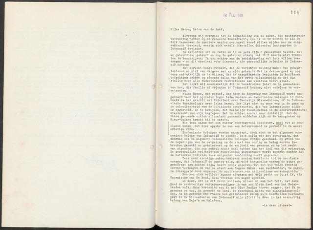 Woensdrecht: Notulen gemeenteraad, 1922-1996 1958-01-01